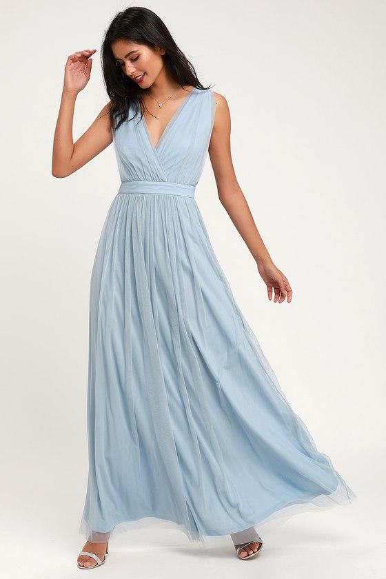 90b5525cc04 Stunning Slate Maxi Dress - Mesh Maxi Dress - Mesh Maxi Dress