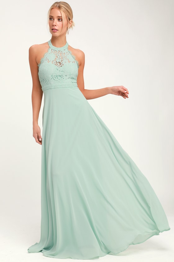 e9a6ed370fc Elegant Maxi Dress - Lace Maxi Dress - Sage Green Maxi Dress
