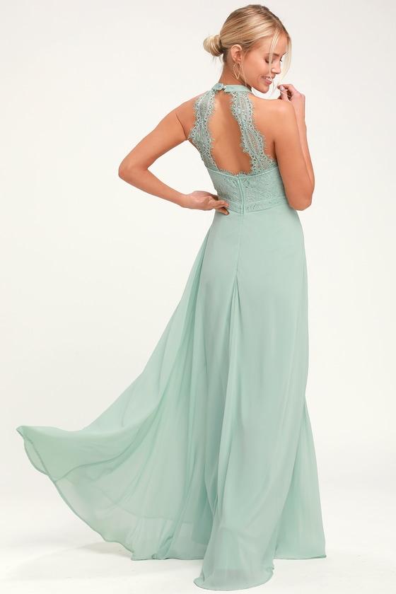 e9a6ed370fc Elegant Maxi Dress - Lace Maxi Dress - Sage Green Maxi Dress