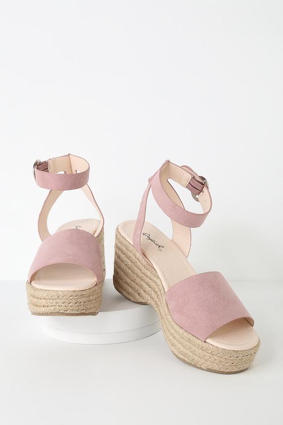 Espadrille Rose Elyse Suede Platform Desert Sandals xodBeC