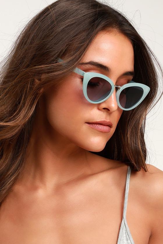 8a307a630aff Cute Blue Sunnies - Cat-Eye Sunglasses - Blue Sunglasses