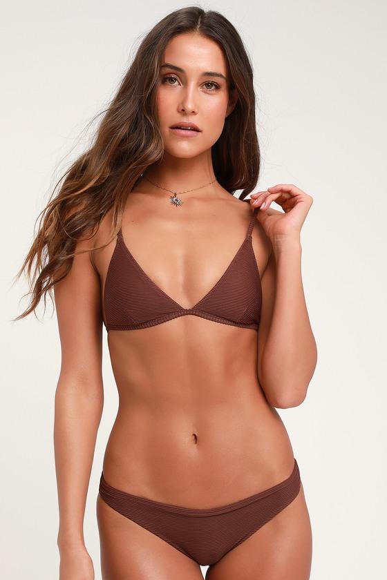 9490d4207a Rhythm Palm Springs - Brown Bikini Bottom - Ribbed Bottoms