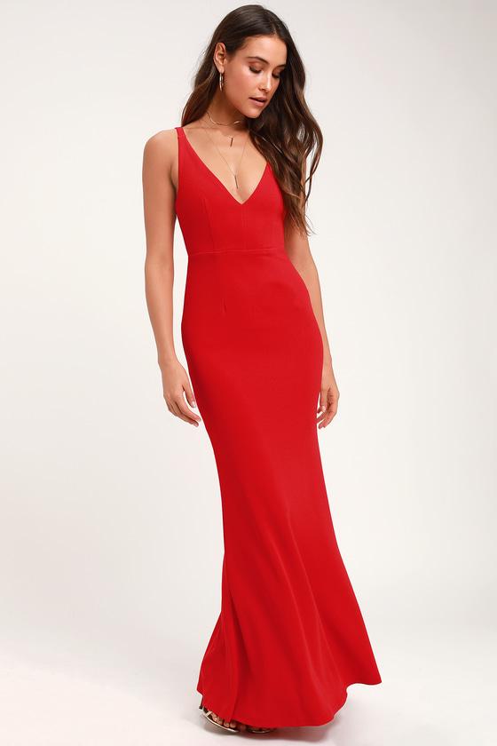 b08cd011e21e Sexy Red Maxi Dress - Sleeveless Maxi Dress - Mermaid Maxi