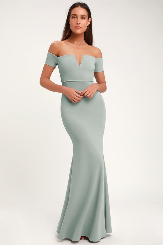9dae4e0a8ad6b Stunning Maxi Dress - Mermaid Maxi Dress - Slate Blue Maxi Dress