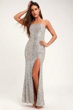 9760eb2c7ba Sexy Silver Dress - Metallic Dress - Silver Maxi Dress -  49.00