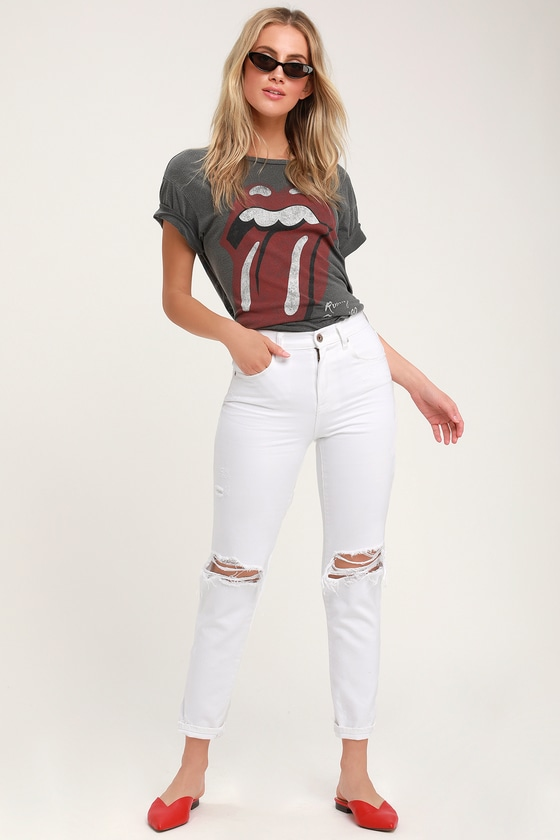 b7579d037d Pistola Presley '90s Roller - White Jeans - Distressed Jeans