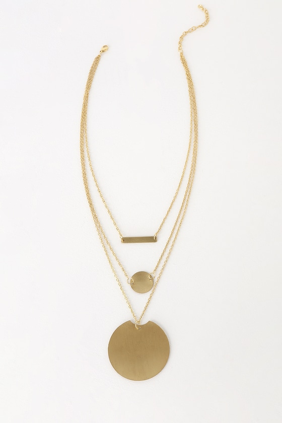 Vintage Style Jewelry, Retro Jewelry Radiance Gold Layered Necklace - Lulus $15.00 AT vintagedancer.com