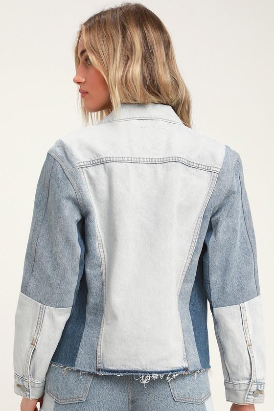 d6a4786e95 Levi's Ex-Boyfriend Sport Denim Jacket - Blue Color Block Denim