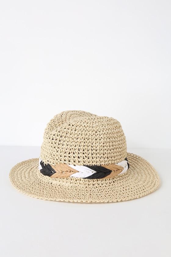 d174418799133 Cute Straw Fedora - Straw Hat - Sun Hat - Floppy Hat