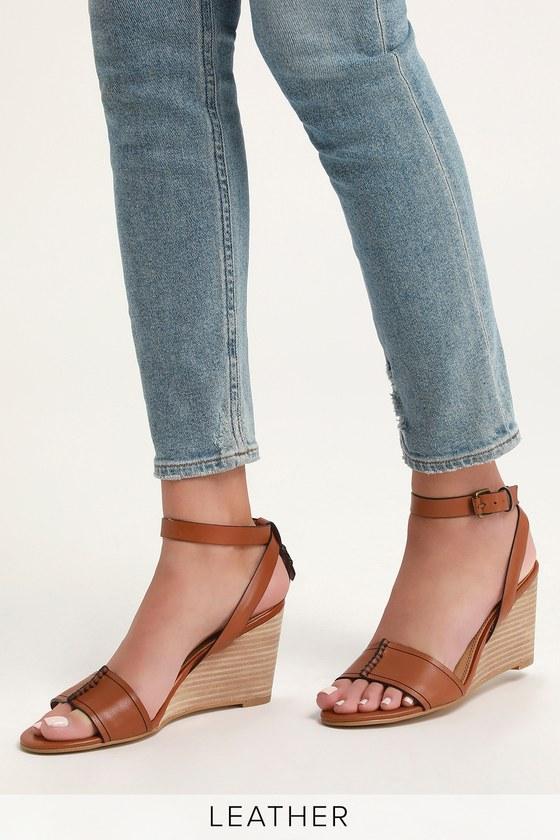 c80e7a66dc Splendid Tadeo Brique - Tan Leather Wedge Sandals - Wedges