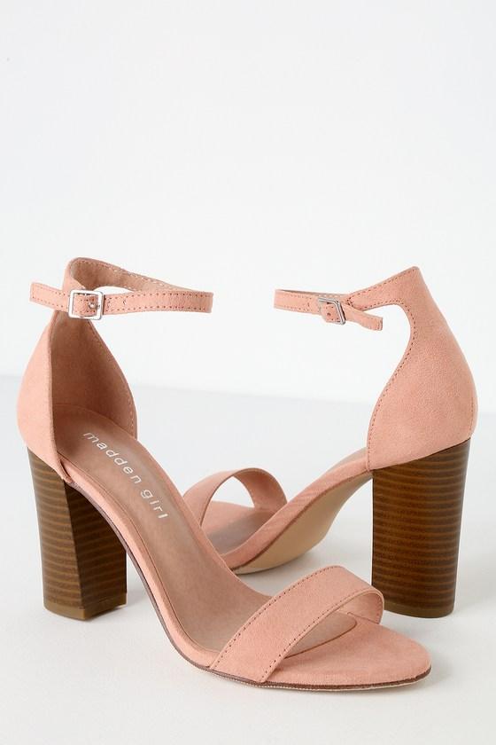 156c047d97c Bella-S Champagne Suede Ankle Strap Heels