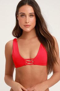 3d736f9afd469 KAOHS Swim Becky - Red Bikini Top - One Shoulder Bikini Top -  92.00
