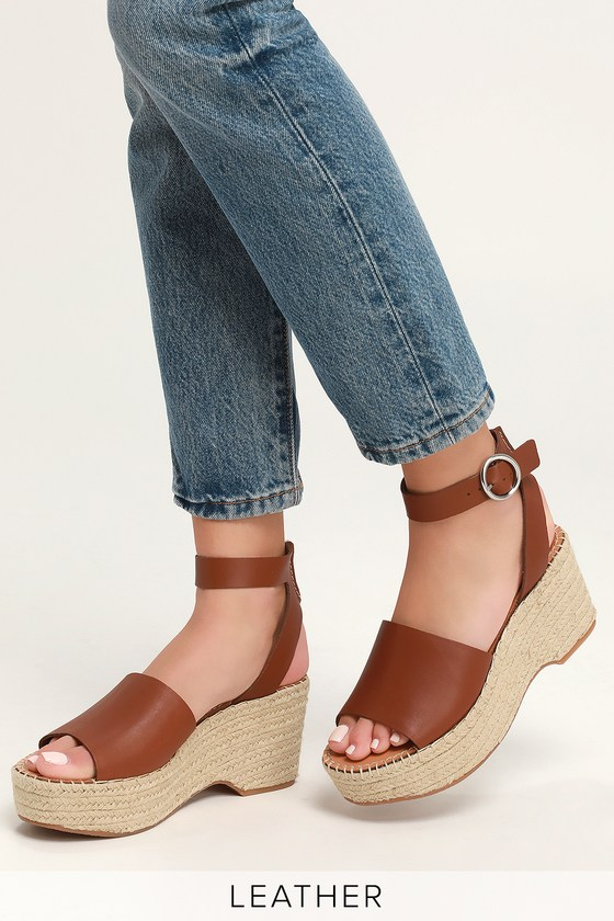 d451544ee3b5 Dolce Vita X Lulus Lesly - Leather Wedges - Espadrille Wedges