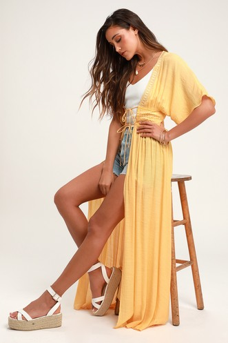 10dfe7d142a Carried Away Yellow Embroidered Maxi Top