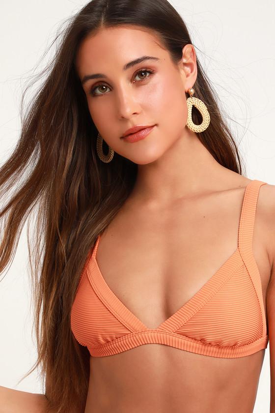 5477351c4d1c4 Billabong Tanlines Fixed - Orange Bikini Top - Ribbed Bikini Top