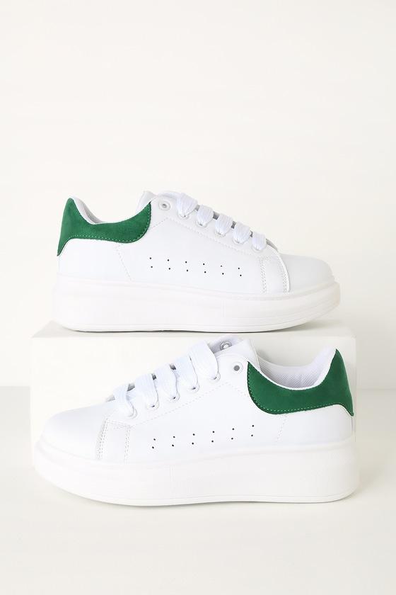 vegan white platform sneakers