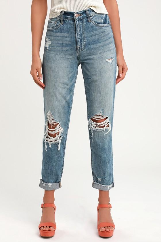 4ced68b0404 Pistola Presley '90s Roller - Medium Wash Jeans - Rolled Jeans