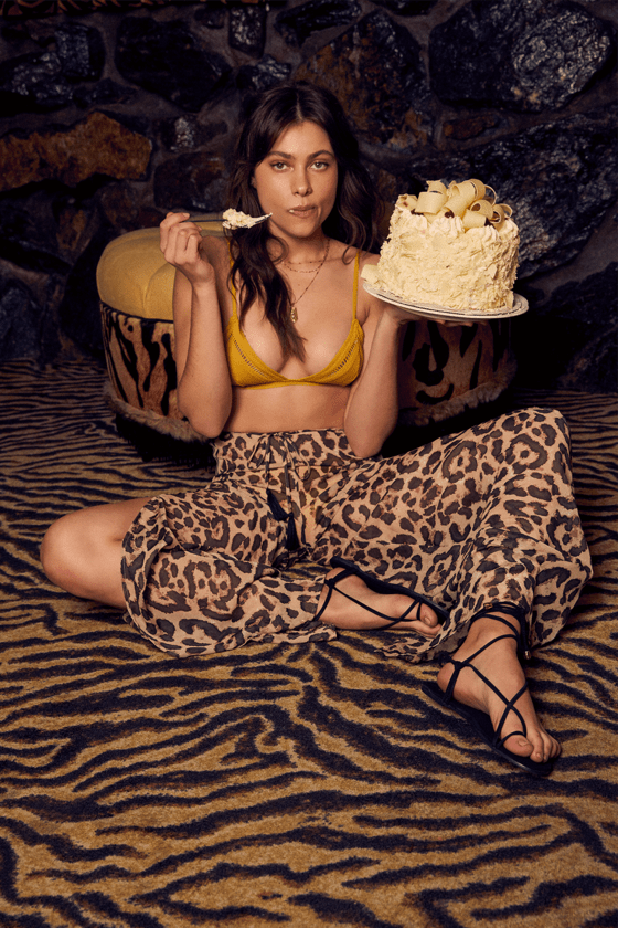Ready To Roam Sheer Brown Leopard Print Swim Cover Up Pants by Lulus