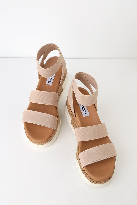 889356ad0df9 Steve Madden Bandi - Blush Sandals - Cork Sole Sandals