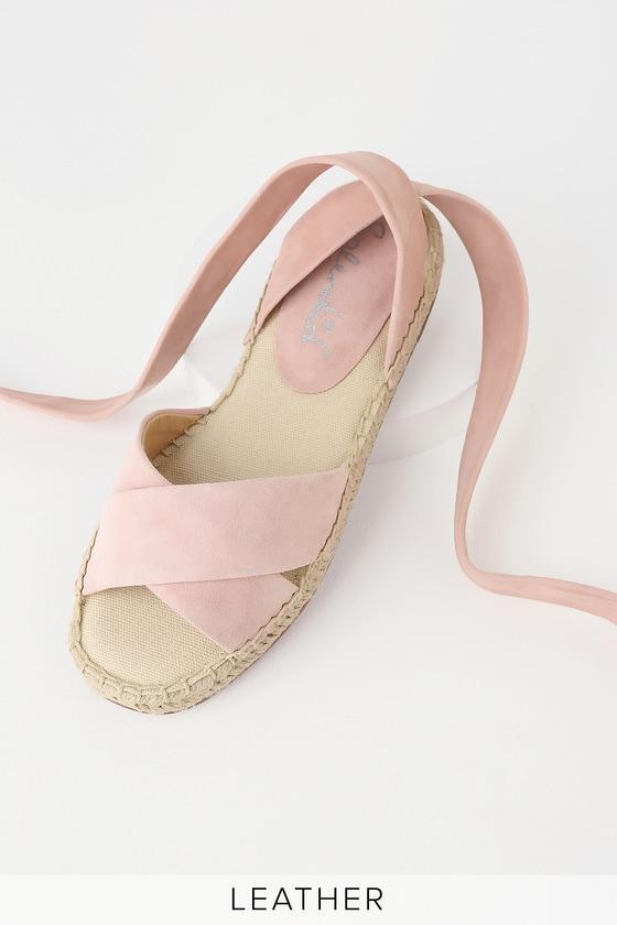 8451acf5cd6 Splendid Tereza - Blush Suede Leather Sandals - Espadrilles