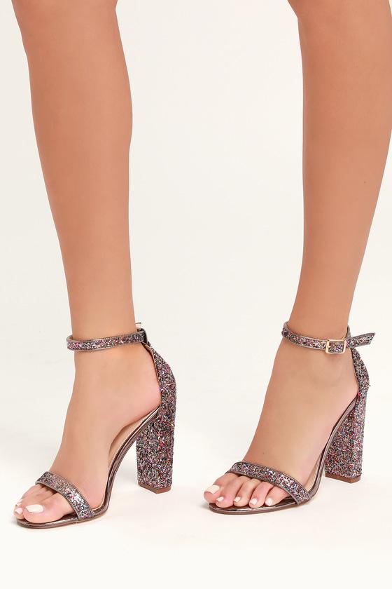 Stunning Glitter Heels - Multi Colored