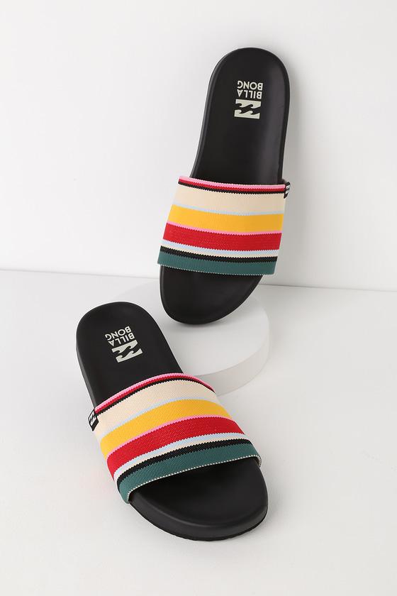 a394096e4b3 Billabong Surf Retreat - Slide Sandals - Rainbow Striped Sandals