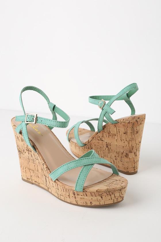 Mint Wedge Green Sandals Darlene Suede pqMVGSUz
