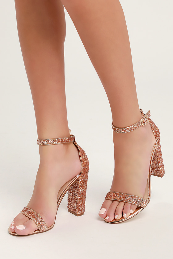 Heels With Gold Ankle Strap