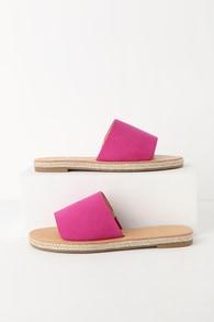 99d200b873ff MIA Lillie - Striped Platform Slides - Flatform Sandals
