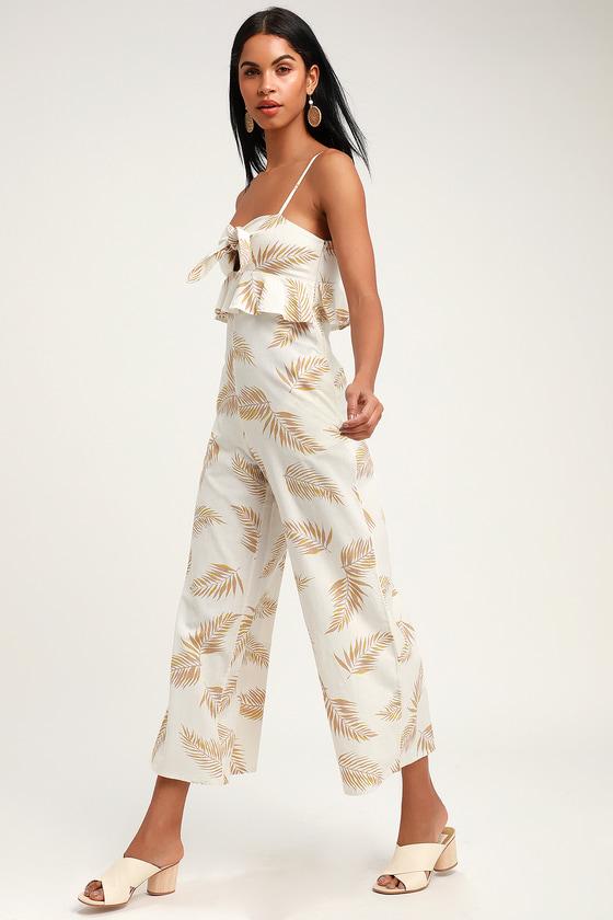 72d97ece18e93 Billabong x Sincerely Jules Twist Flirt - White Print Jumpsuit
