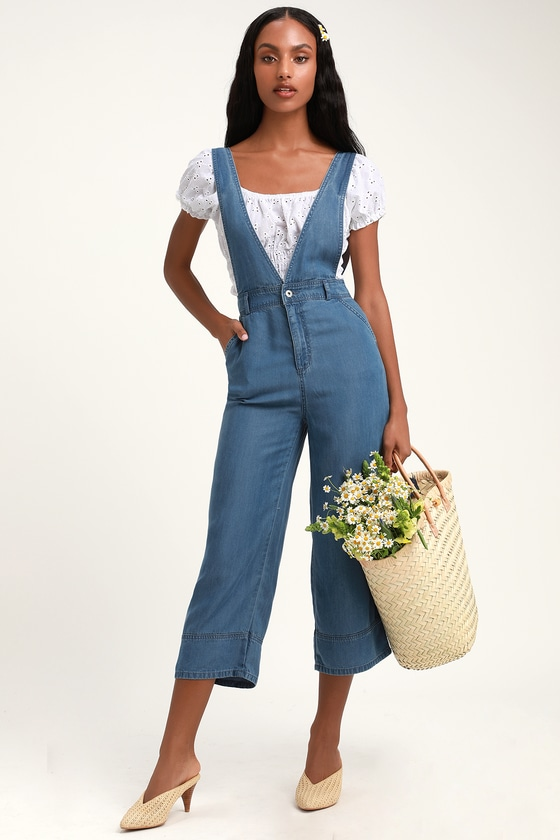 3926bf6547ac BB Dakota Got You Covered - Blue Chambray Overalls - Overalls