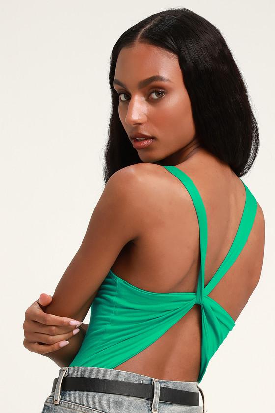 8ba1b06022 Sexy Green Bodysuit - Backless Bodysuit - Sleeveless Bodysuit