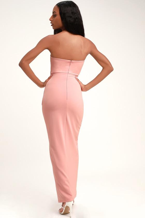724647daefce2 Sexy Blush Pink Maxi Dress - Strapless Maxi Dress - Mermaid Dress