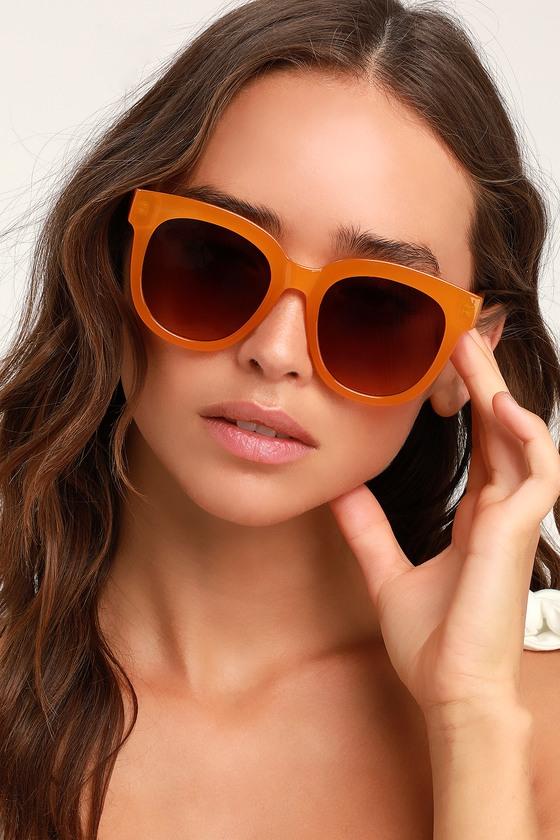 Cute Orange Sunglasses - Oversized Orange Sunglasses - Sunnies d5a92a9c4