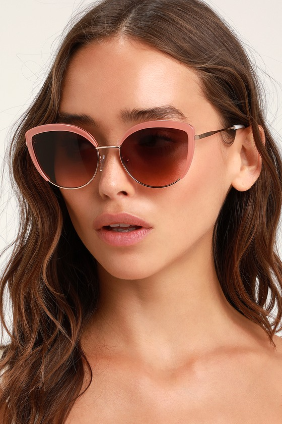 Cute Rusty Rose Sunglasses - Wire Frame Sunglasses - Sunnies