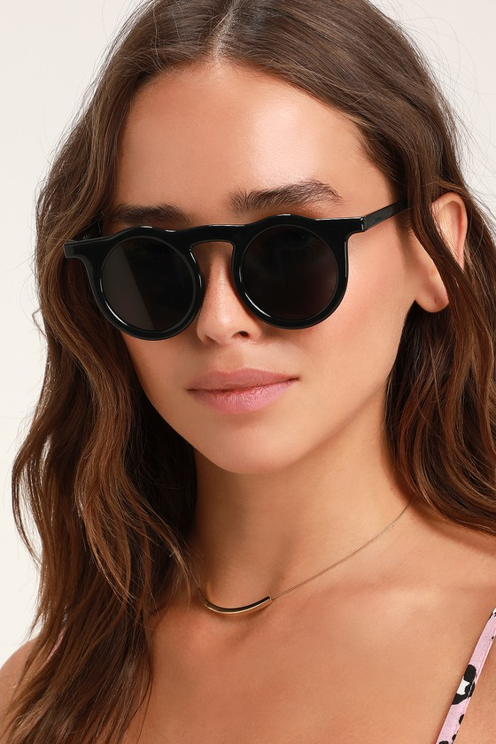 7e23a3efa5 Cute Keyhole Sunglasses - Round Sunglasses - Black Sunglasses