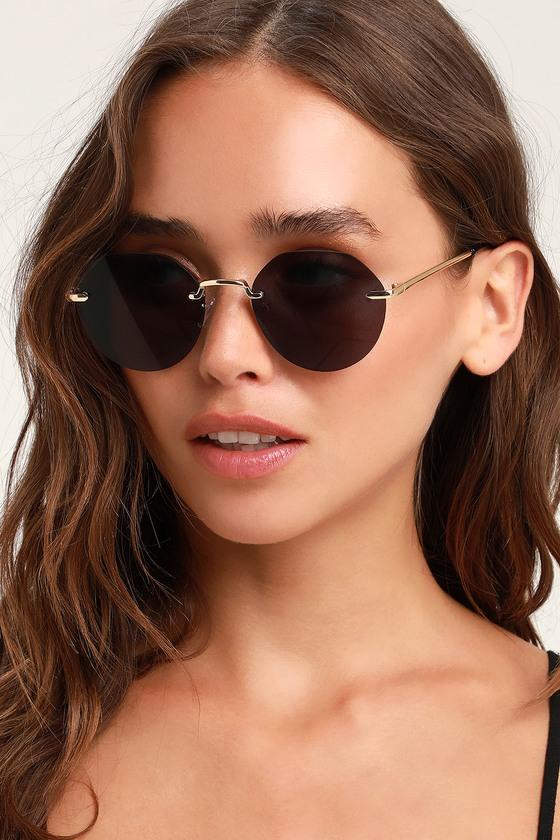 Brunch Date Black Sunglasses