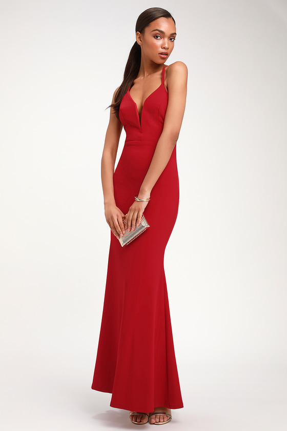 b7952066f6 Amelia Red Sleeveless Maxi Dress
