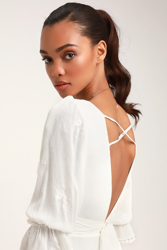 b54f16ecbf8 Cute White Dress - Embroidered Dress - White Mini Dress