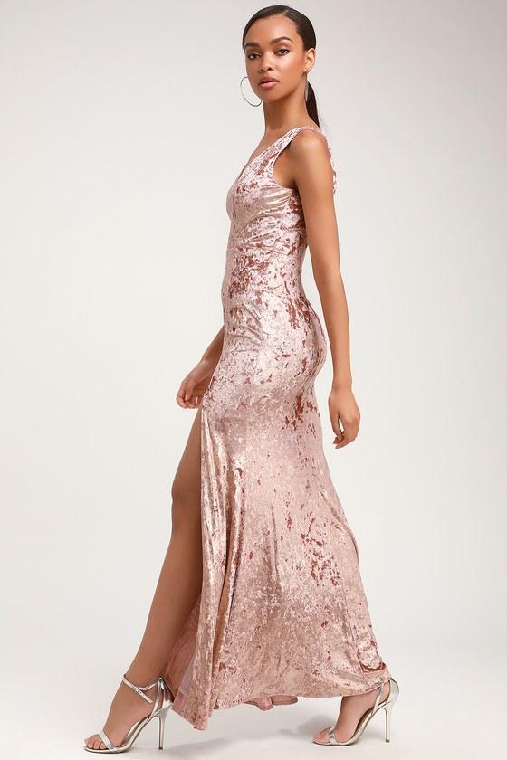 bdf98b3f41 Lovely Mauve Velvet Dress - Mermaid Dress - Velvet Maxi Dress