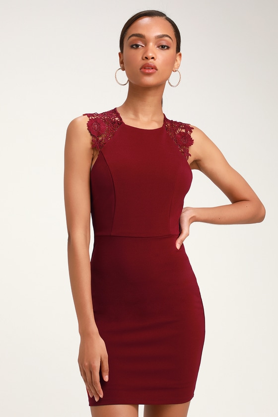 come-alive-burgundy-lace-sleeveless-bodycon-dress by lulus