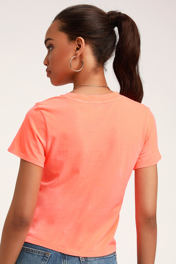 2e48806e54325c Levi's Graphic Surf Tee - Bright Coral Tee - Graphic Tee Shirt
