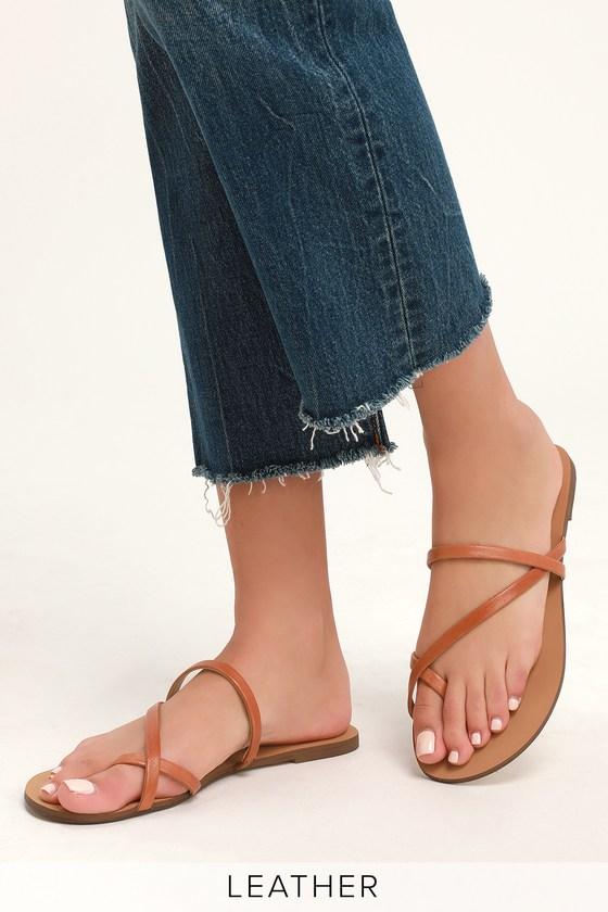 f7641f6510f1 Splendid Trenton - Flat Leather Sandals - Toe-Loop Sandals