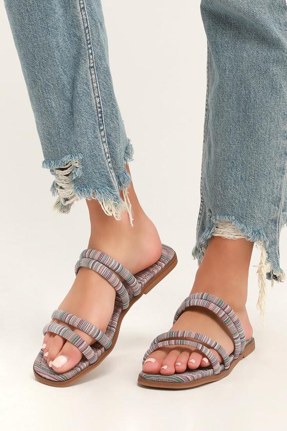 92046ca0a14 Rocket Dog Felicia - Natural Multi Stripe Sandals - Slide Sandals