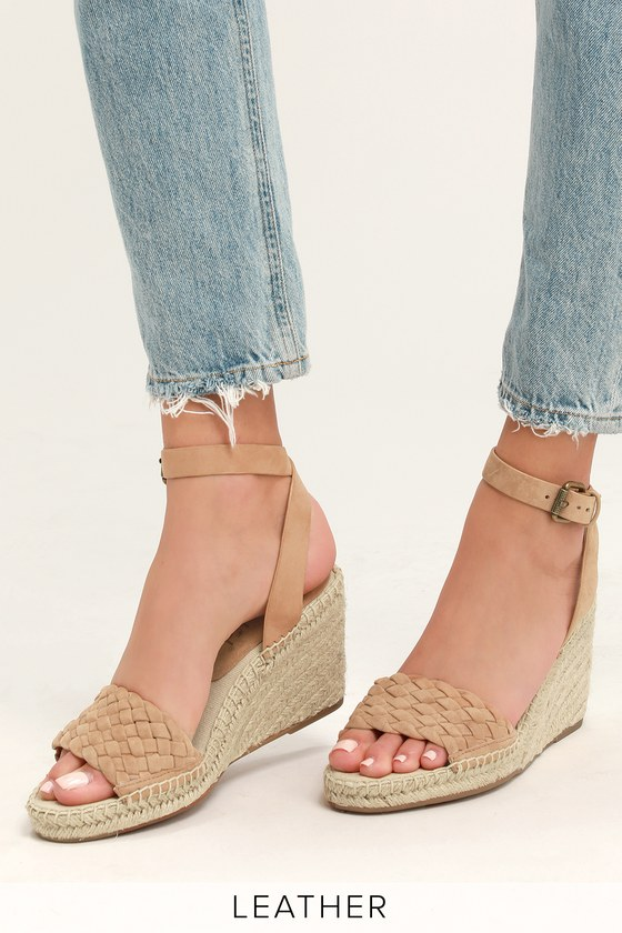 db92a1c6be0 Tasman Tan Suede Leather Espadrille Wedges