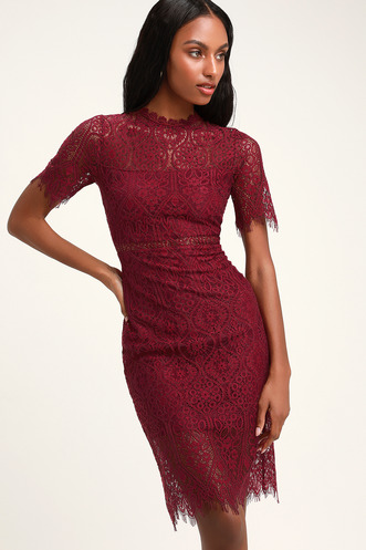 ef0b78a3d76 Remarkable Burgundy Lace Dress