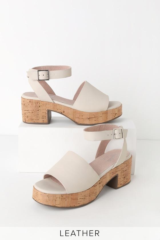 6816a57e368e Seychelles Calming Influence - White Platform Heels - Sandals