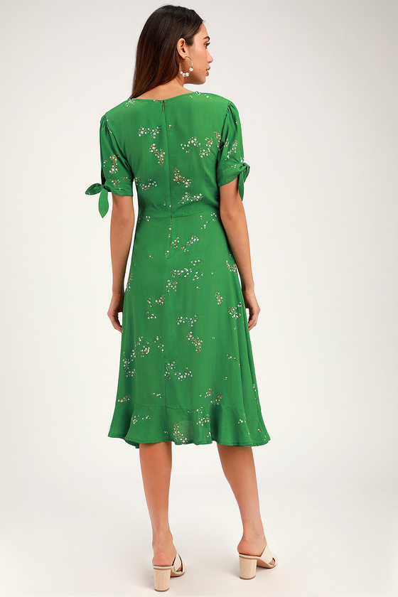 ce1651c19c3d Faithfull the Brand Emilia Midi Dress - Green Floral Print Dress