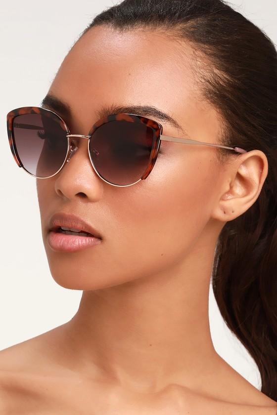 Backseat Brown Tortoise Sunglasses - Lulus