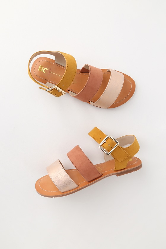 b4689323f2c BC Footwear Picturesque - Mustard Multi Sandals - Flat Sandals
